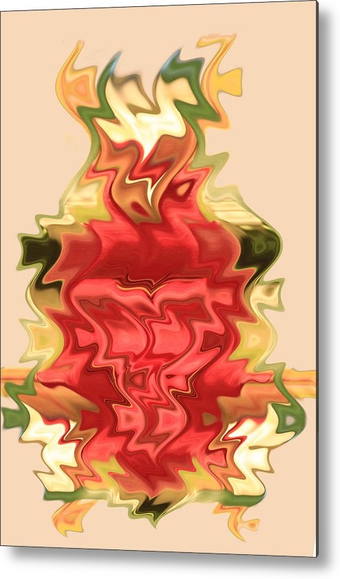 Abstract Metal Print featuring the digital art Zig And Zag by Linda Phelps