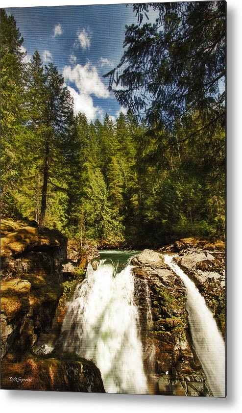 Nooksack Falls Metal Print featuring the photograph Nooksack Falls by DMSprouse Art