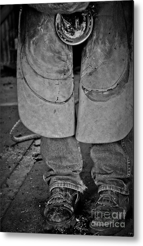 Blacksmith Metal Print featuring the photograph A Man At Work by Tamera James