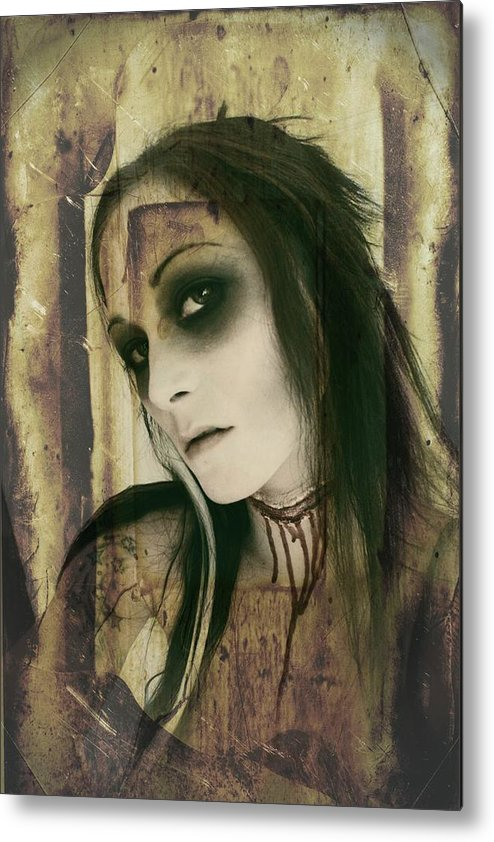 Gothic Metal Print featuring the photograph Untitled by Mandy Shupp