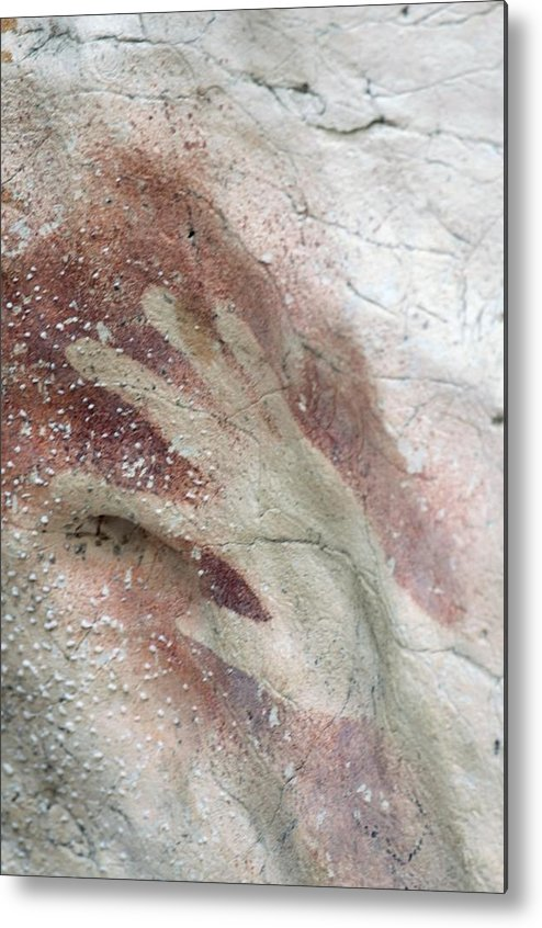Human Metal Print featuring the photograph Rock Painting, Timor-leste by Louise Murray