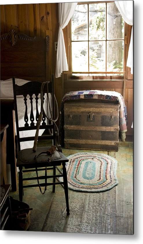 Historic Interior Metal Print featuring the photograph A Simpler Life by Lynn Palmer