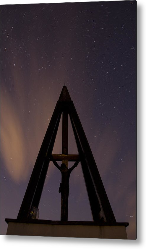 Startrails Metal Print featuring the photograph Against The Stars by Ian Middleton