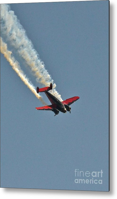 Stunt Plane Metal Print featuring the photograph Air Show by Carol Bradley