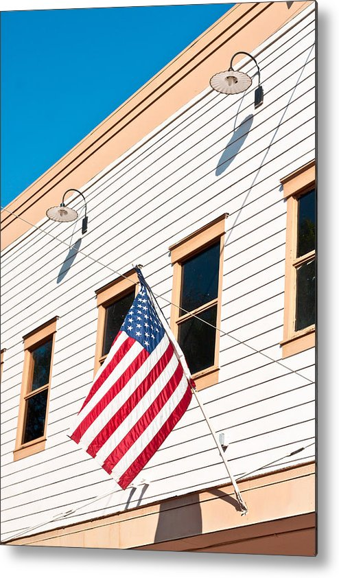 4th Metal Print featuring the photograph American Flag by Tom Gowanlock
