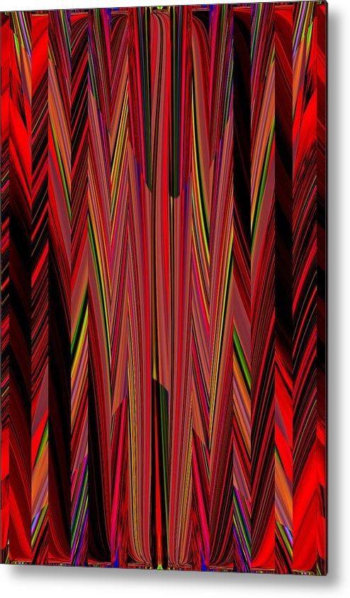 Abstract Metal Print featuring the digital art Any Way You Slice It 3 by Tim Allen