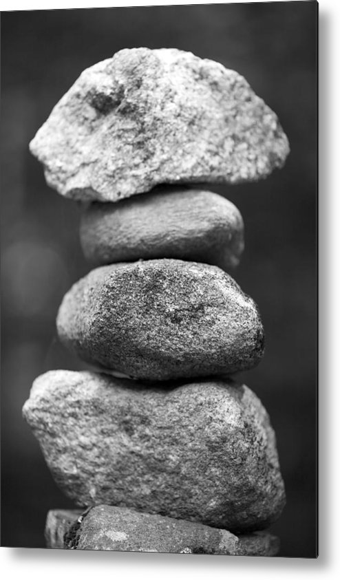 Vertical Metal Print featuring the photograph Balanced Rocks, Close-up by Snap Decision
