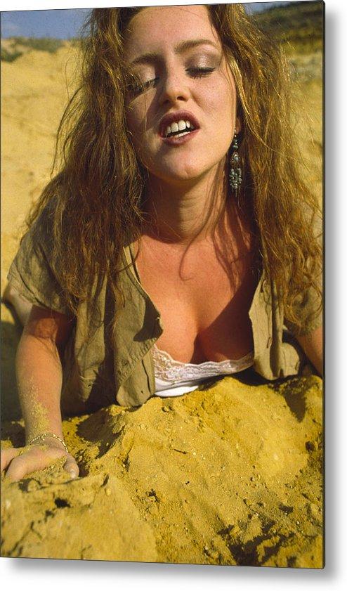 Beach Metal Print featuring the photograph Beach Girl by Franz Roth