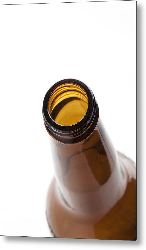 Beverage Metal Print featuring the photograph Beer Bottle Neck 3 by John Brueske