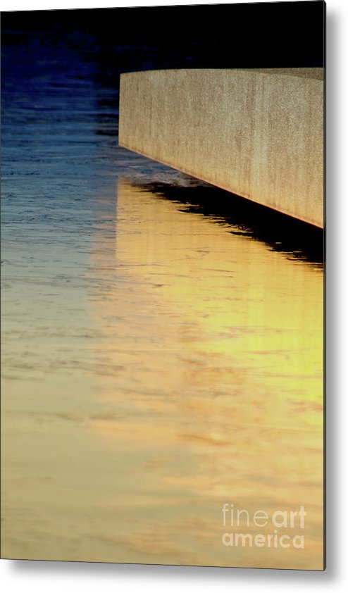 Blue Metal Print featuring the photograph Blue And Gold by Carolyn Fox