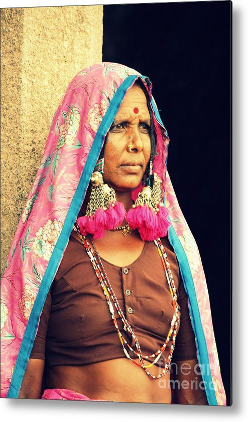 Portrait Metal Print featuring the photograph Bohemian by Vishakha Bhagat