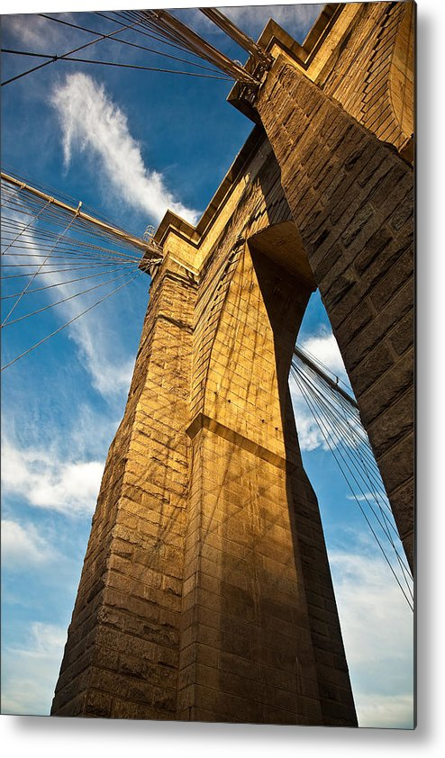 Brooklyn Metal Print featuring the photograph Brooklyn Bridge End Of The Day by Patrick Flynn