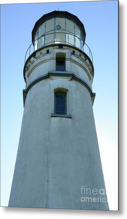 Pacific Ocean Metal Print featuring the photograph Cape Blanco Light by Bob Christopher