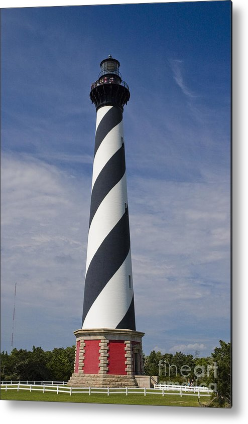 Lighthouse Metal Print featuring the photograph Cape Hatteras Lighthouse by Tim Mulina
