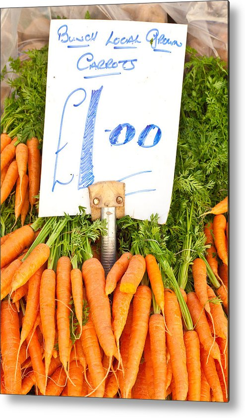 Carrots Metal Print featuring the photograph Carrots by Tom Gowanlock