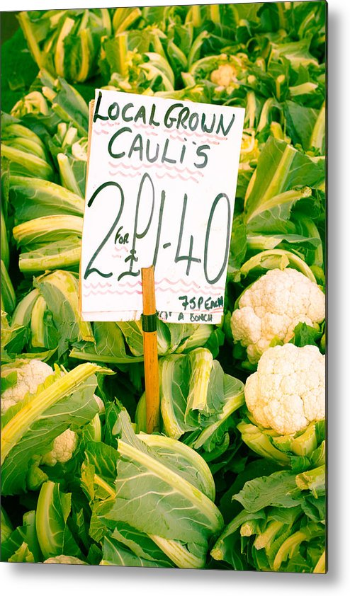 Abundance Metal Print featuring the photograph Cauliflower by Tom Gowanlock