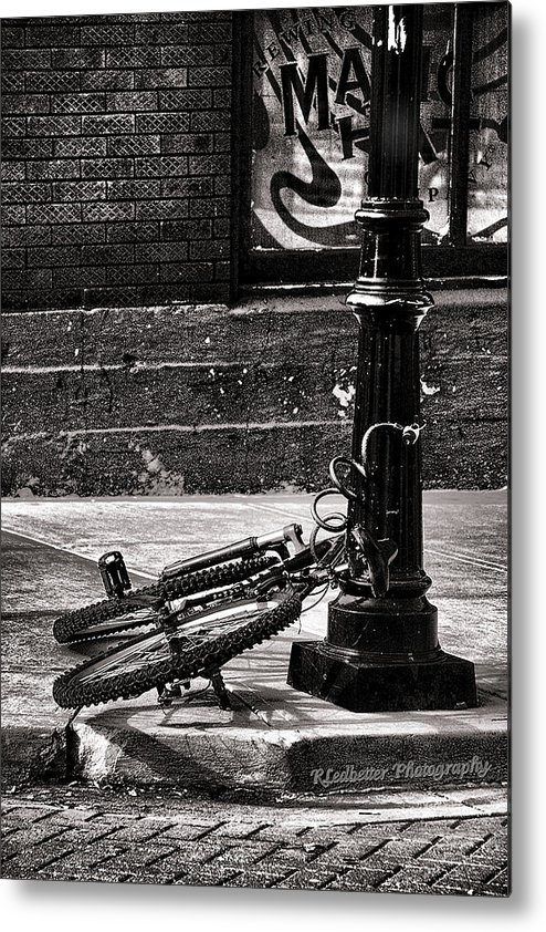 Chains Metal Print featuring the photograph Chained Up by Renee Ledbetter