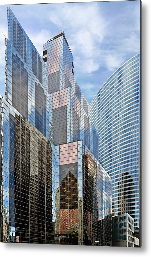 Chicago Metal Print featuring the photograph Chicago - One South Wacker And Hyatt Center by Christine Till