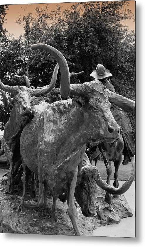 Photography Metal Print featuring the photograph Chisolm Trail Memorial by Lynnette Johns
