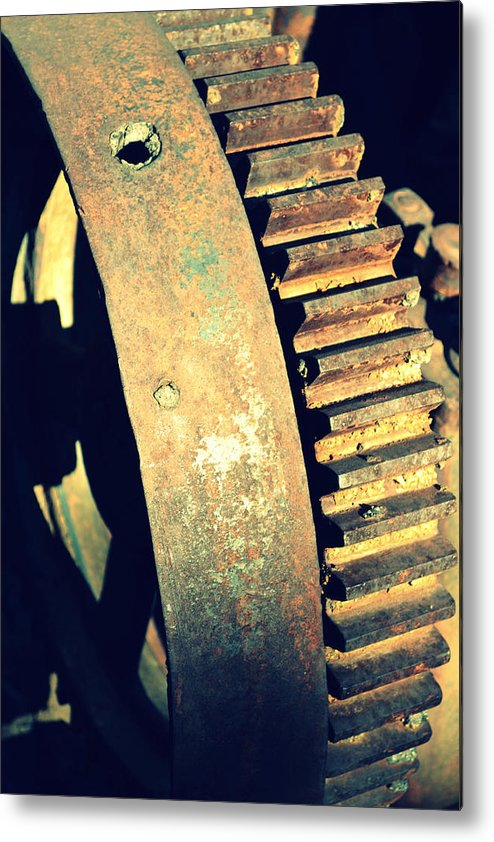 Machinery Metal Print featuring the photograph cog by Diane montana Jansson