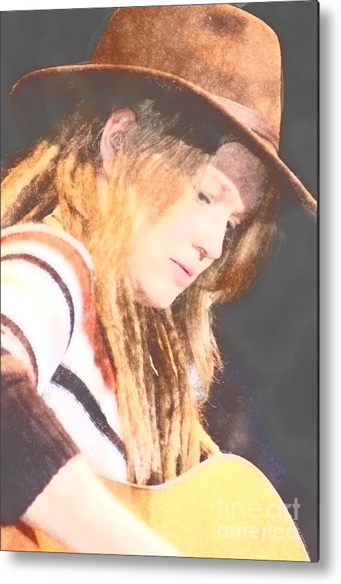 Metal Print featuring the photograph Crystal Bowersox by Donna Bentley