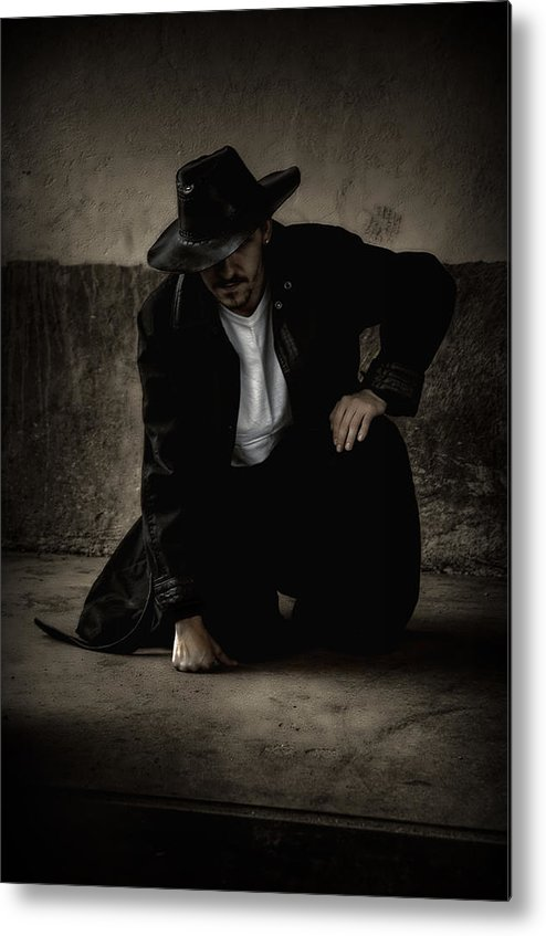Man Metal Print featuring the photograph Desperado by Heather Rivet