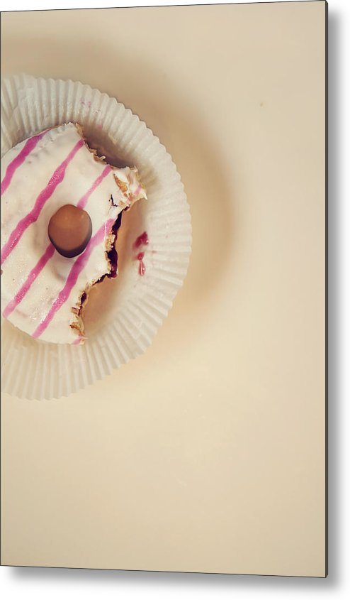 Vertical Metal Print featuring the photograph Donut With Jelly by Kelly Sillaste