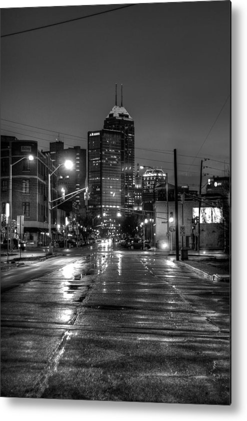 Street Photography Metal Print featuring the photograph Down Mass. Ave. by Vinnie Oliveri