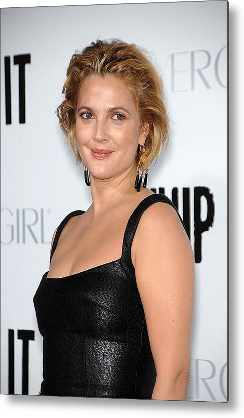 Drew Barrymore Metal Print featuring the photograph Drew Barrymore Wearing Neil Lane by Everett