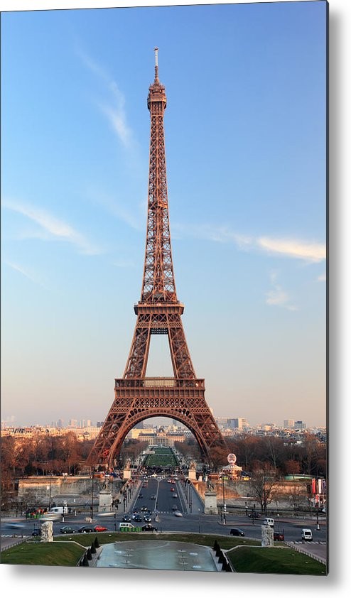 Vertical Metal Print featuring the photograph Eiffel Tower, Paris, France by Jumper