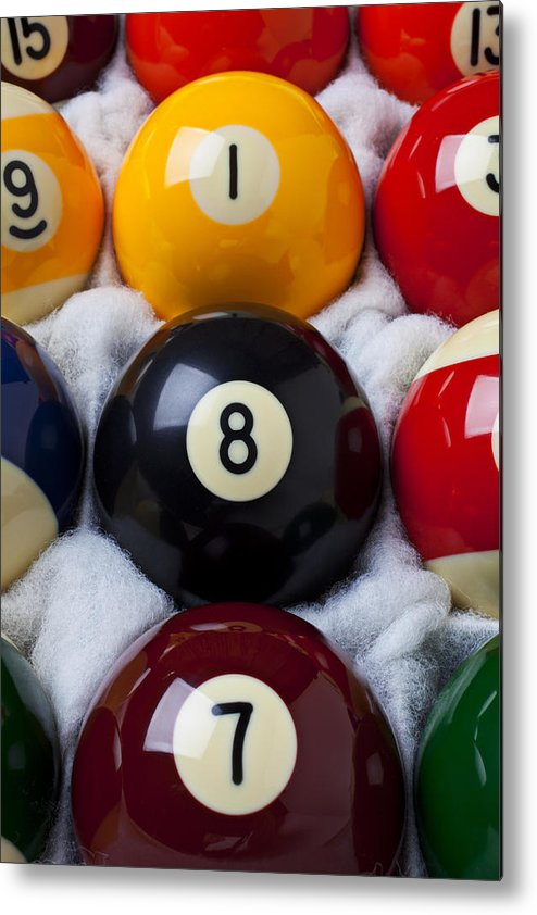 Pool Metal Print featuring the photograph Eight Ball by Garry Gay