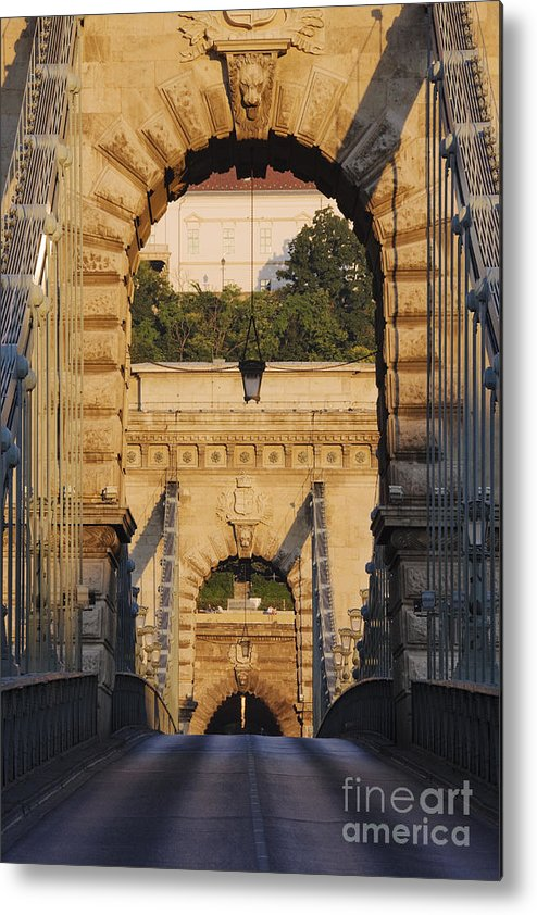 Arched Metal Print featuring the photograph Empty Stone Bridge by Jeremy Woodhouse