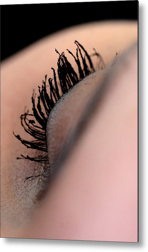 Eye Metal Print featuring the photograph Eyelashes by JL Creative Captures