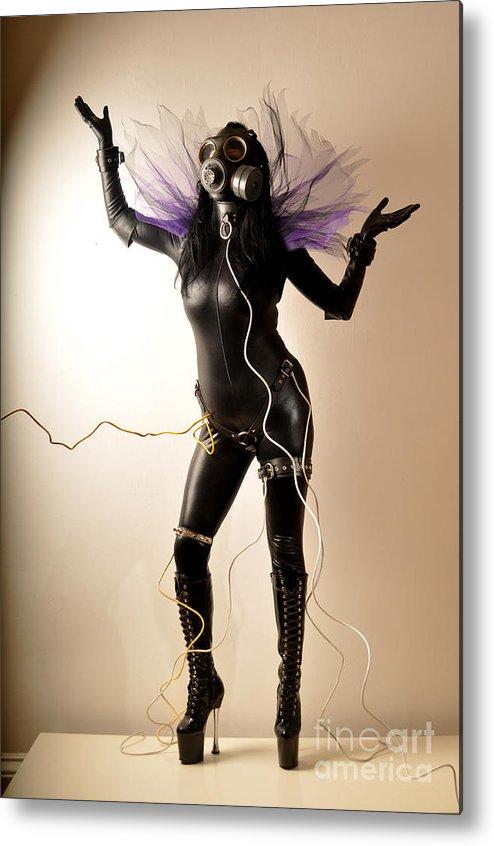 Contemporary Metal Print featuring the photograph Fallen Angel by Dominique De Leeuw