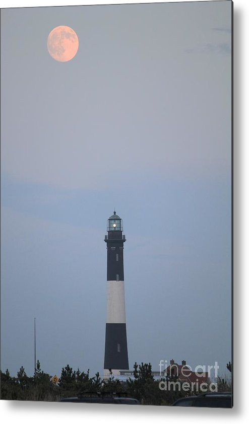 Light House Metal Print featuring the photograph Fire Island Light House by Scenesational Photos