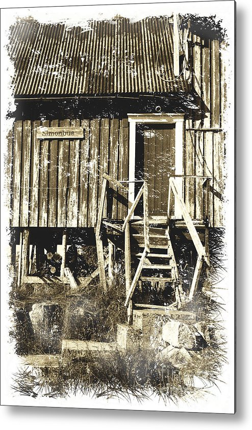 Heiko Metal Print featuring the photograph Forgotten Wooden House by Heiko Koehrer-Wagner
