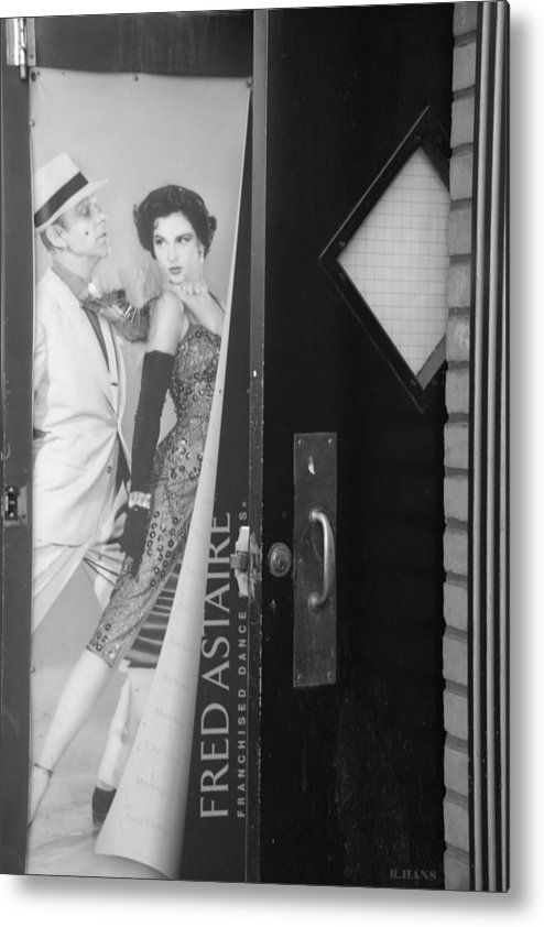 Fred Astaire Metal Print featuring the photograph Fred And Ginger In Black And White by Rob Hans