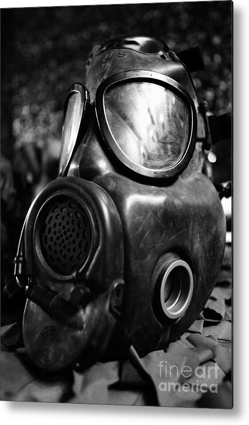 Gas Mask Metal Print featuring the photograph Gas Mask by Gaspar Avila