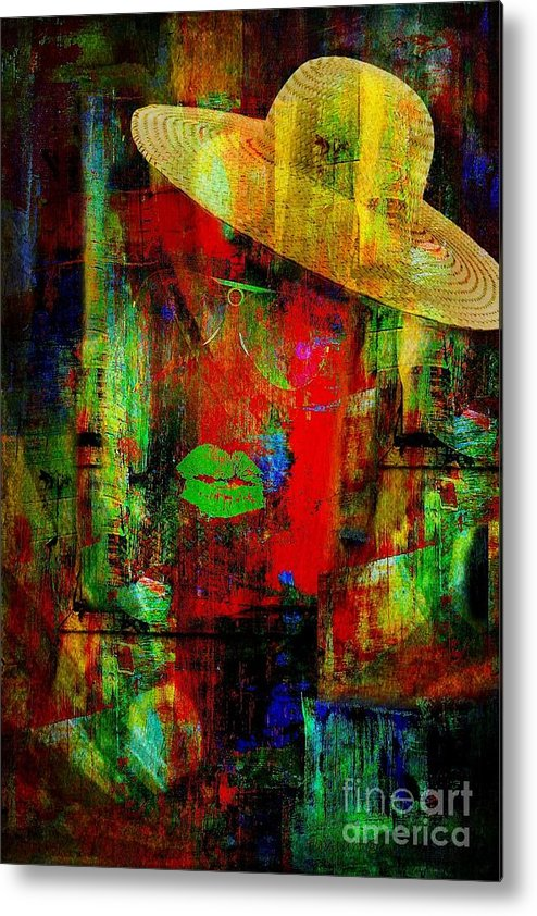 Fania Simon Metal Print featuring the mixed media Getting Ready To Download A Fool by Fania Simon