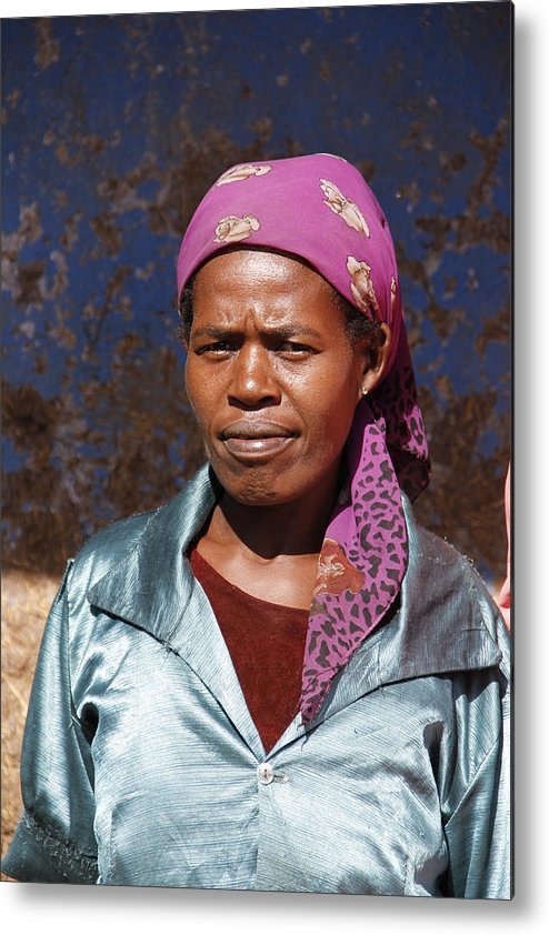 Woman Metal Print featuring the painting Godmother Of Ethiopia by Robert SORENSEN