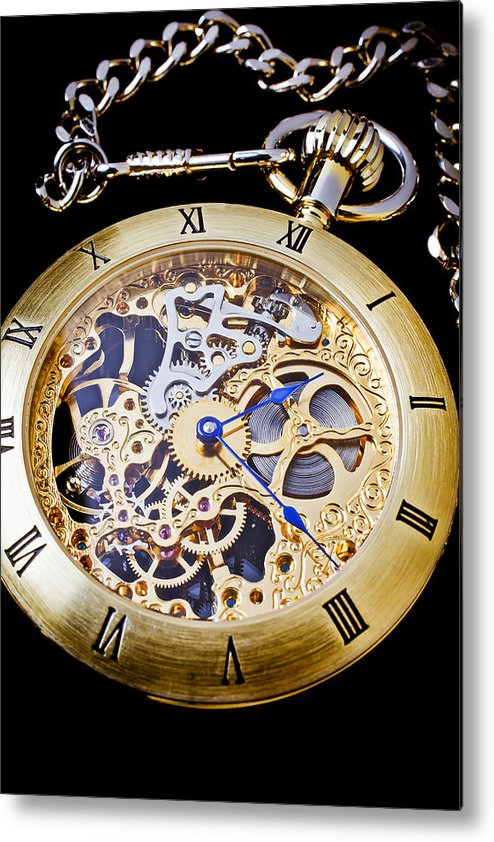 Time Metal Print featuring the photograph Gold Pocket Watch by Garry Gay