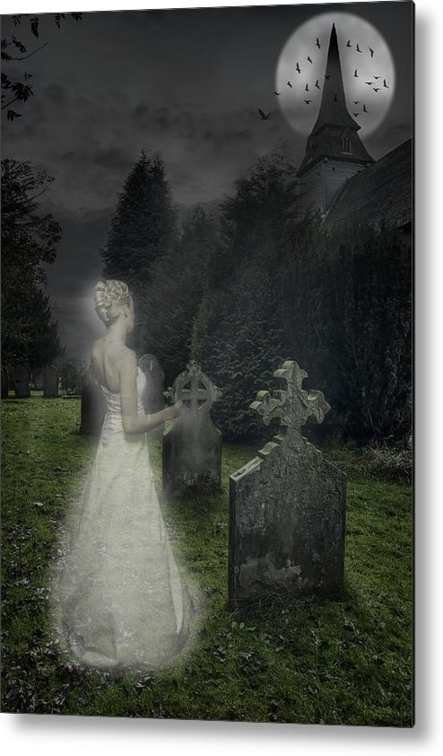 Haunted Metal Print featuring the photograph Haunting by Amanda Elwell
