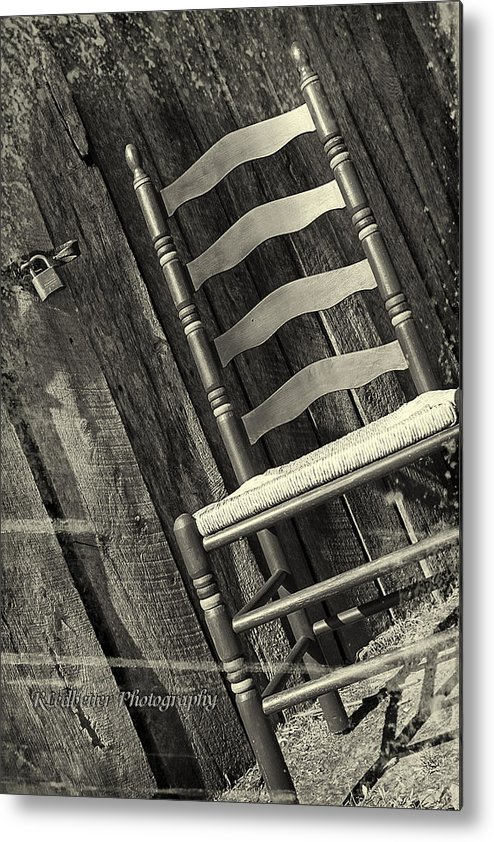 Country Metal Print featuring the photograph Have A Seat by Renee Ledbetter