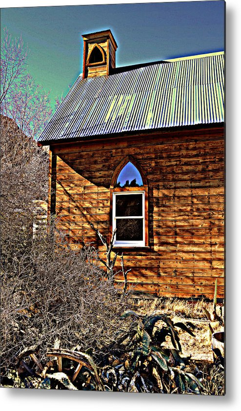 Chapel Metal Print featuring the photograph I Do Thee Wed by Diane montana Jansson
