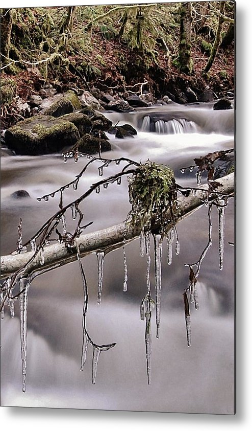 Icicles Metal Print featuring the photograph Ice by Gavin Macrae