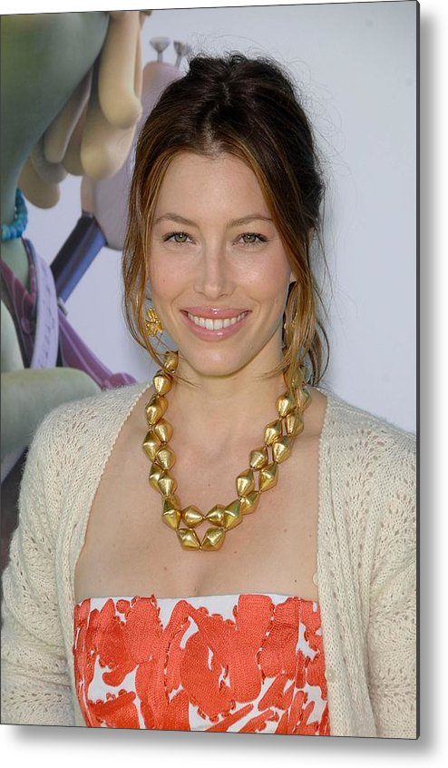 Jessica Biel Metal Print featuring the photograph Jessica Biel At Arrivals For Planet 51 by Everett
