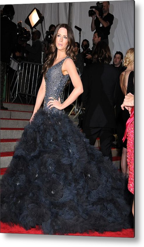 Kate Beckinsale Metal Print featuring the photograph Kate Beckinsale Wearing A Marchesa by Everett