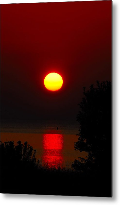 Sunrise Metal Print featuring the photograph Lake Superior Sunrise by Janice Adomeit
