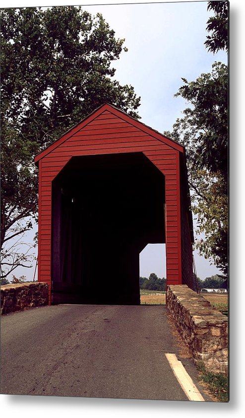 Loy's Station Covered Bridge Metal Print featuring the photograph Loy's Station Covered Bridge by Sally Weigand