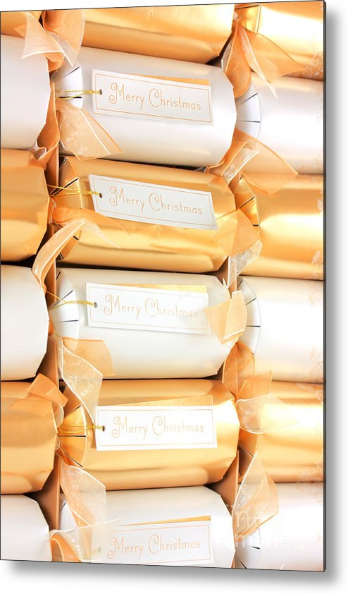 Celebration Metal Print featuring the photograph Luxury Christmas Crackers by Simon Bratt Photography LRPS